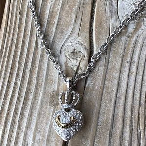 🎁 BNWOT Juicy Couture Pave Crown Banner Heart!
